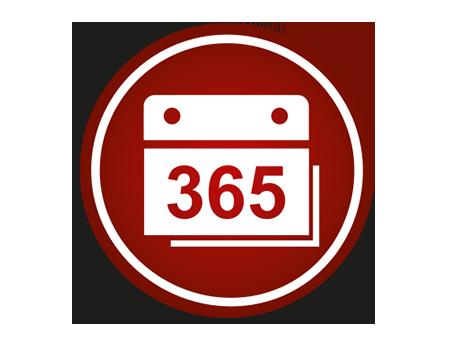 365 days open